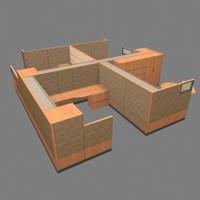 3d model office workstations