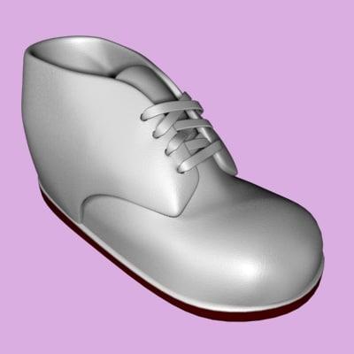 3dsmax baby shoe