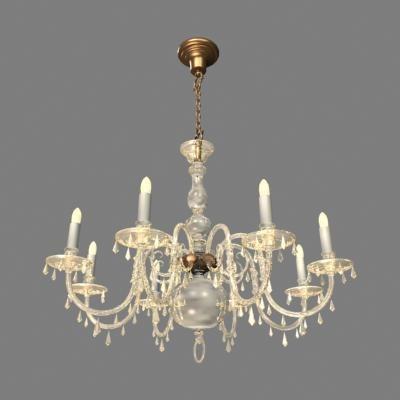 light chandelier 3d model