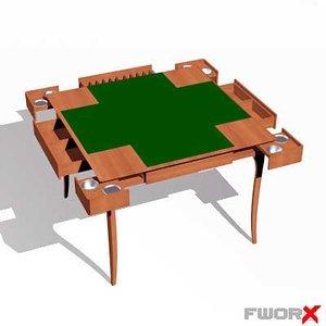 table card 3d max