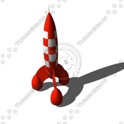 tintin rocket 3d model