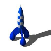3d model rocket classic toys