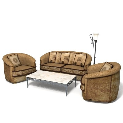 armchair sofa table 3d max
