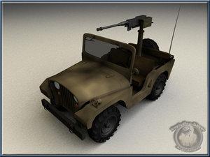 ww2 willys jeep 3d model
