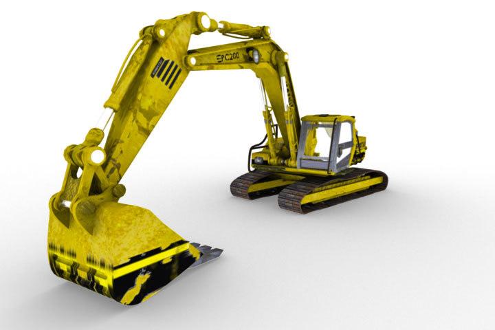 construction excavator 3d model