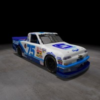 nascar racing truck chevy silverado 3d model