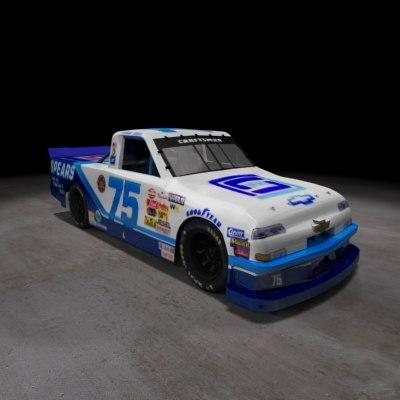 nascar racing truck chevy silverado 3d model
