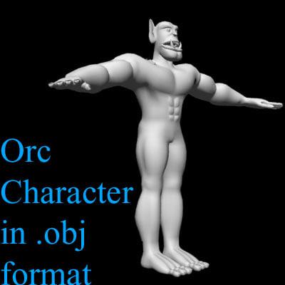 uv orc 3d model