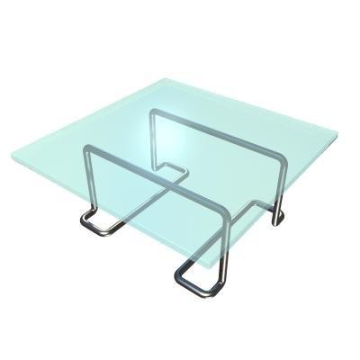 maya glass metal table