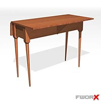 3d model table leaf