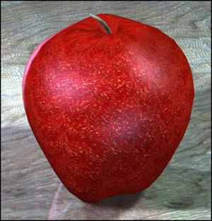 apple fruit 3d 3ds