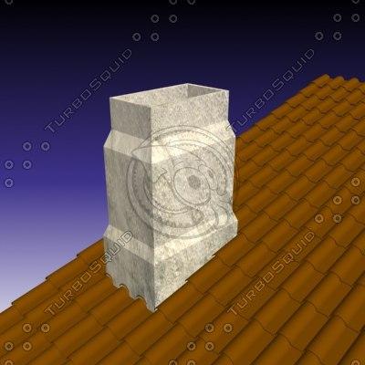 3d chimney house model