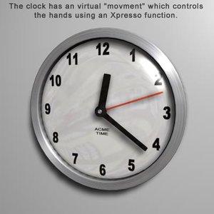 clock xpresso movment 3d model