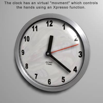 clock xpresso movment 3d model