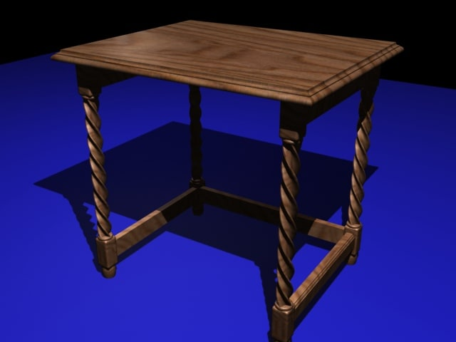 3ds max small coffee table