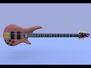3d ibanez bass guitar
