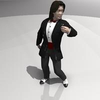 free character human man 3d model