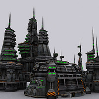 3DRT-Sci-Fi buildings-collection.zip