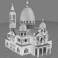 3d model sacrecoeurtowerchurcharchitecturehousebuildingstructuremonumentparis