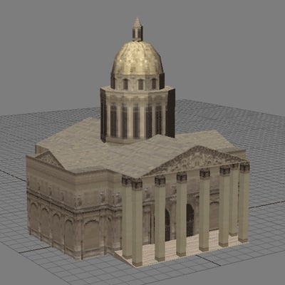 3d model pantheontowerchurcharchitecturehousebuildingstructuremonumentparis