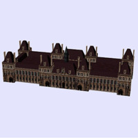 3d hotelvilletowerarchitecturehousebuildingstructuremonumentparis model