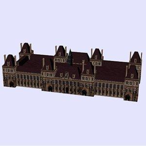 3d hotelvilletowerarchitecturehousebuildingstructuremonumentparis model