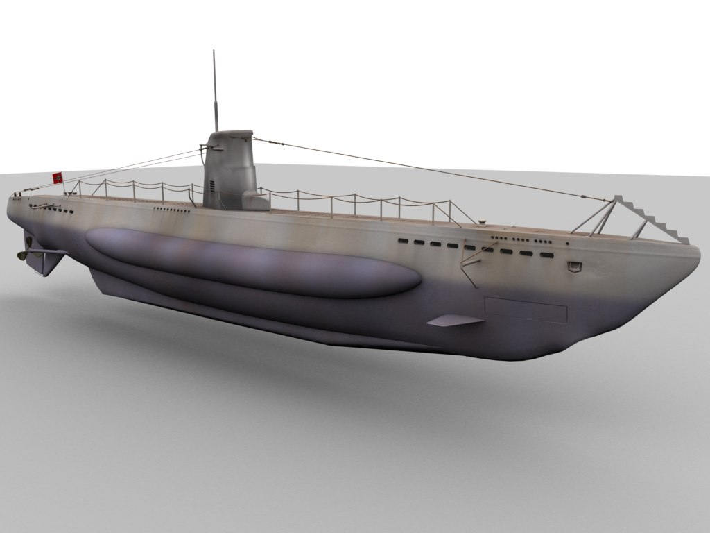 german type u-boat obj