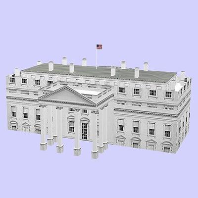 3d house white