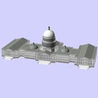 3d model of building capitol