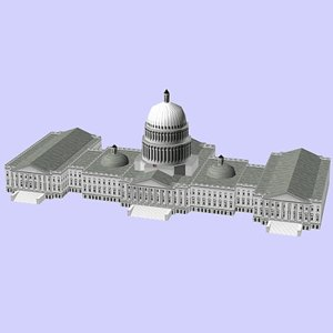 3d model of building capitol
