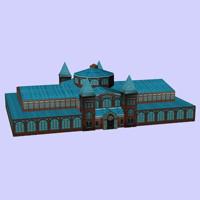3d model of building art industry