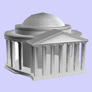 3d model memorial thomas jefferson