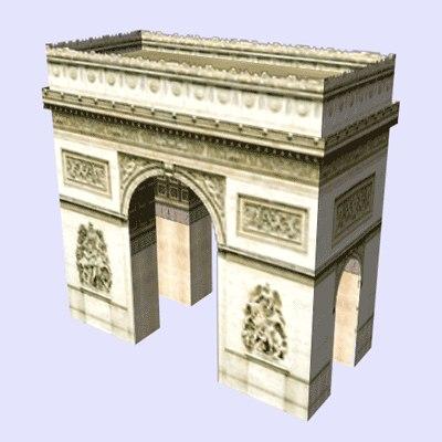 paris pack buildings arc 3d model