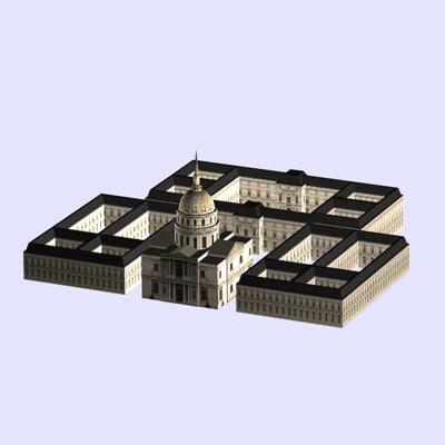3d model dome invalides