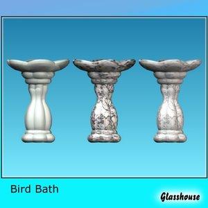bird bath 3d 3ds