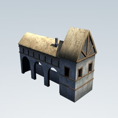 3d medieval stables