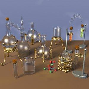 victorian lab equipment 3d model