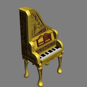 harpsichord 3d model