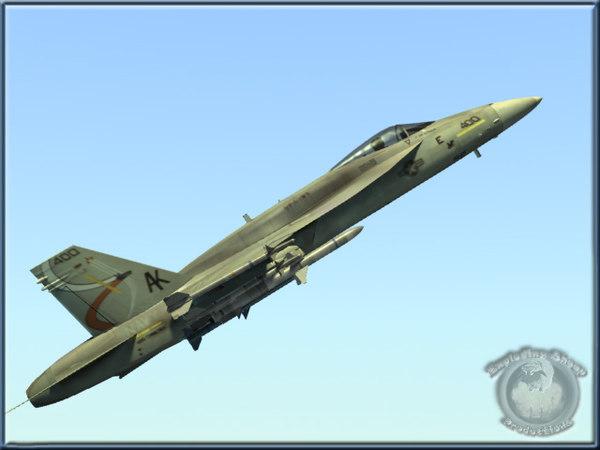navy f18e hornet fighter 3d model