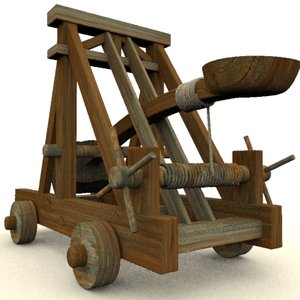 medievil catapult 3d model