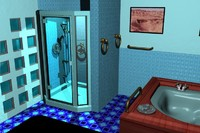 bathroom hot tub 3d lwo