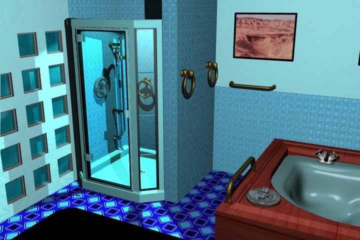 bathroom hot tub 3d lwo