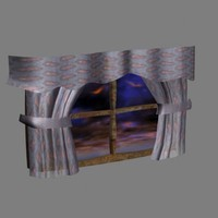 window curtains 3d model