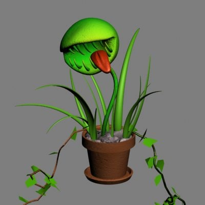 3d man eating plant model