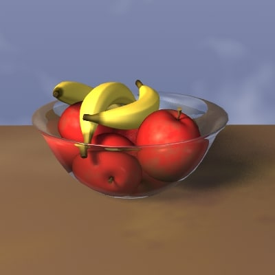 fruit bowl 3d lwo