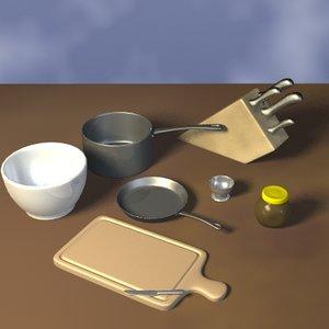 kitchen utensils pack 3d model