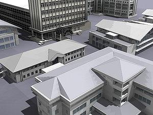 office buildings 3d model