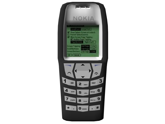 3d nokia 6610 cellular phone model