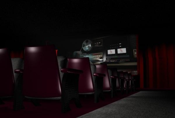 movie theatre 3d model