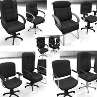 3ds max 10 office chairs